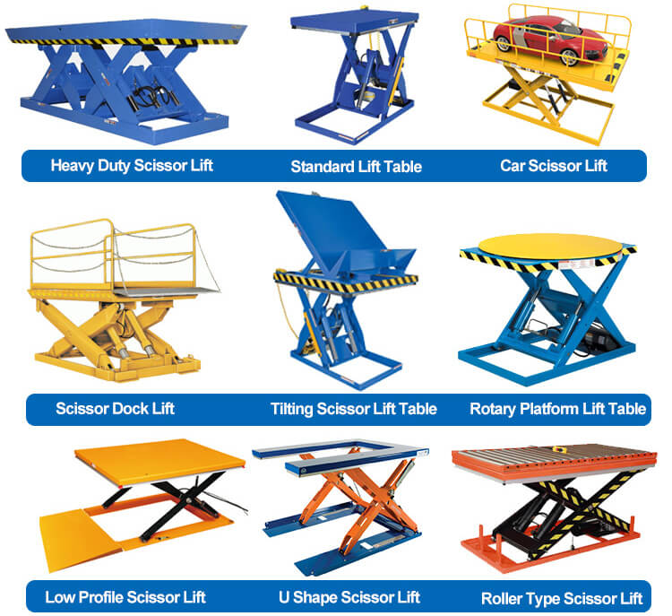 CYT Different Forms of Scissor Lift