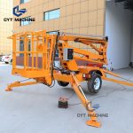 trailer mounted boom lift Towable articulated boom lift cherry picker (3)