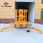 trailer mounted boom lift Towable articulated boom lift cherry picker (4)