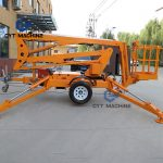 trailer mounted boom lift Towable articulated boom lift cherry picker (5)