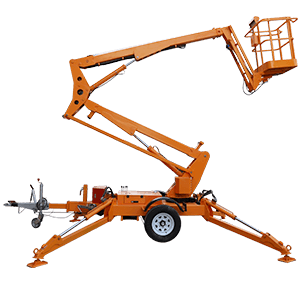 trailer mounted boom lift Towable articulated boom lift cherry picker